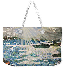 Weekender Tote Bag featuring the painting After The Storm by Leanne Seymour