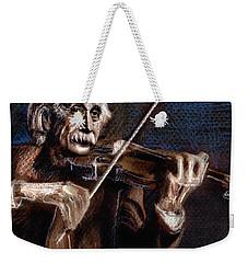 Albert Einstein And Violin Weekender Tote Bag