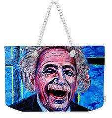 Weekender Tote Bag featuring the painting Albert Einstein by Viktor Lazarev