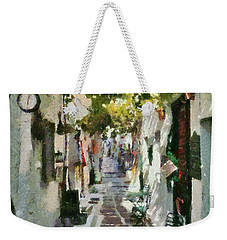 Alley In Ios Town Weekender Tote Bag