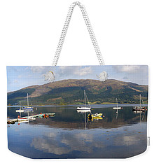 Weekender Tote Bag featuring the photograph Along Loch Leven 3 by Wendy Wilton