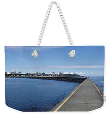 Weekender Tote Bag featuring the photograph Along The Breakwater by Marilyn Wilson