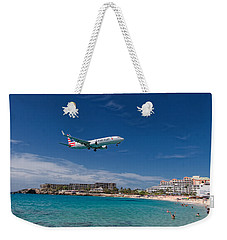 American Airlines At St Maarten Weekender Tote Bag