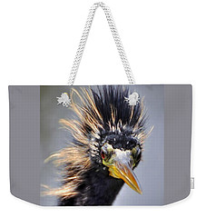 Weekender Tote Bag featuring the photograph Anhinga  by Savannah Gibbs