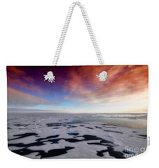 Weekender Tote Bag featuring the photograph Arctic Sea Ocean Water Antarctica Winter Snow by Paul Fearn
