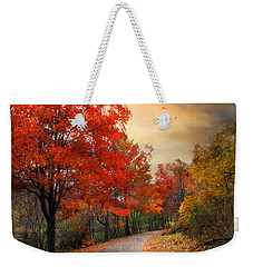 Weekender Tote Bag featuring the photograph Autumn Maples by Jessica Jenney