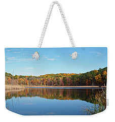 Autumn Pond Weekender Tote Bag by Aimee L Maher Photography and Art Visit ALMGallerydotcom