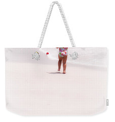 Baby Chases Red Ball Weekender Tote Bag by Valerie Reeves