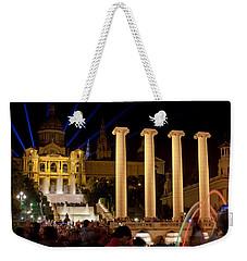 Barcelona By Night Weekender Tote Bag