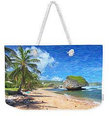 Bathsheba Beach In Barbados Weekender Tote Bag by Verena Matthew