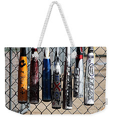 Weekender Tote Bag featuring the photograph Bats by Chris Thomas
