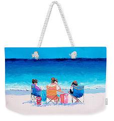 Beach Painting 'girl Friends' By Jan Matson Weekender Tote Bag by Jan Matson