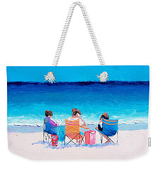 Beach Painting 'girl Friends' By Jan Matson Weekender Tote Bag