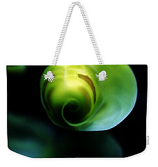 Weekender Tote Bag featuring the photograph Birth Of A Leaf by Lilliana Mendez