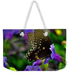 Black Swallowtail Weekender Tote Bag by Angela DeFrias