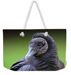 Black Vulture Portrait Weekender Tote Bag by Bruce J Robinson