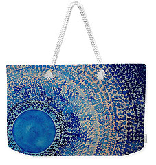 Blue Kachina Original Painting Weekender Tote Bag