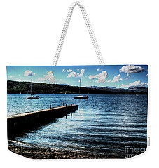 Weekender Tote Bag featuring the photograph Boats In Wales by Doc Braham
