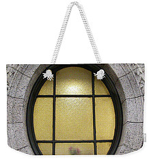 Weekender Tote Bag featuring the photograph Bryant Park Window by Gary Slawsky