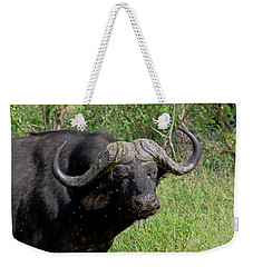 Cape Buffalo Weekender Tote Bag