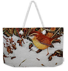Carolina Wren Weekender Tote Bag by Ken Everett
