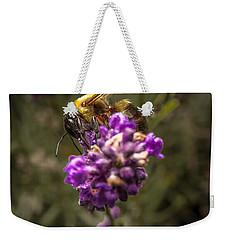 Carpenter Bee On A Lavender Spike Weekender Tote Bag
