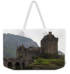 Cartoon - Structure Of The Eilean Donan Castle With A Stone Bridge Weekender Tote Bag