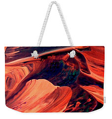 Weekender Tote Bag featuring the painting Catalyst by Jacqueline McReynolds