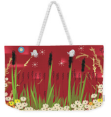 Cattails Weekender Tote Bag by Kim Prowse