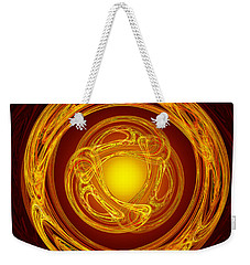 Celtic Abstract On Red Weekender Tote Bag by Jane McIlroy