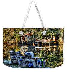 2 Chairs On The Magnolia River Weekender Tote Bag