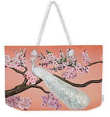 Cherry Blossom Peacock Weekender Tote Bag