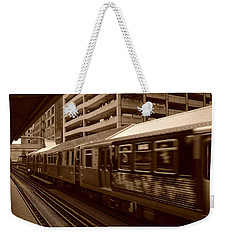 Chicago Cta Weekender Tote Bag by Miguel Winterpacht