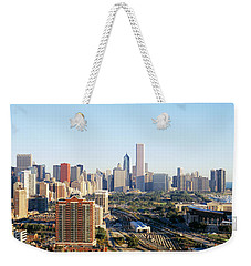Chicago, Illinois, Usa Weekender Tote Bag by Panoramic Images