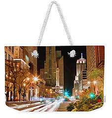 Chicago Michigan Avenue Light Streak Weekender Tote Bag