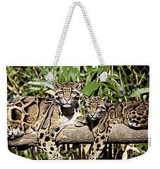 Clouded Leopards Weekender Tote Bag