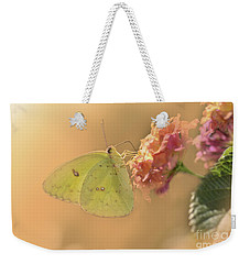Clouded Sulphur Butterfly Weekender Tote Bag by Betty LaRue