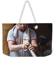 Weekender Tote Bag featuring the photograph Cooking Breakfast Early Morning Lahore Pakistan by Imran Ahmed