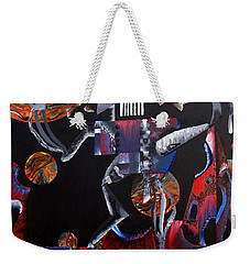 Weekender Tote Bag featuring the painting Copernicasso by Ryan Demaree