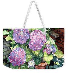 Corner Garden Weekender Tote Bag by Barbara Jewell