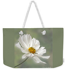 Cosmos Flower In White Weekender Tote Bag by Kaye Menner