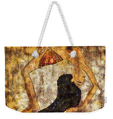 dancer of ancient Egypt Weekender Tote Bag