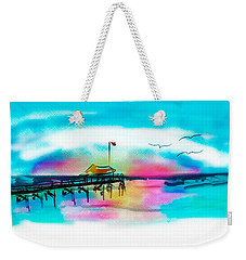 Weekender Tote Bag featuring the digital art Daybreak At Pawleys Island by Frank Bright