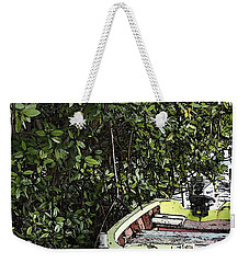 Weekender Tote Bag featuring the photograph Docked By The Mangrove Trees by Lilliana Mendez