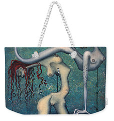 Doctor Vultura's Proportional Sky-fish Daughters  Weekender Tote Bag by Kelly Jade King