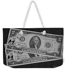 2 Dollars Weekender Tote Bag