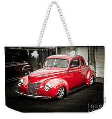 2 Door Red Weekender Tote Bag