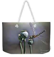 Weekender Tote Bag featuring the photograph Dragonfly by Savannah Gibbs
