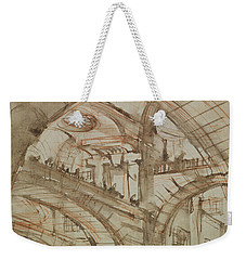 Drawing Of An Imaginary Prison Weekender Tote Bag by Giovanni Battista Piranesi