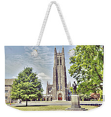 Duke Chapel In Spring Weekender Tote Bag by Emily Kay